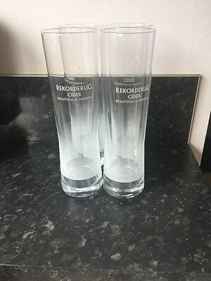 Rekorderlig Cider Beautifully Swedish Pint Glasses X 4