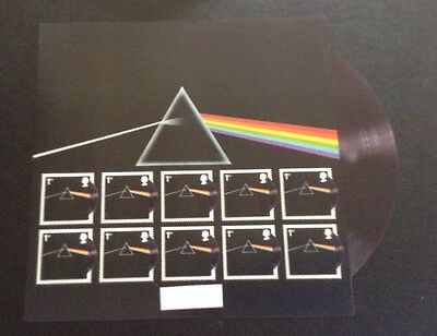 Pink Floyd The Dark Side Of The Moon Limited Edition  Stamps Maxi Sheet