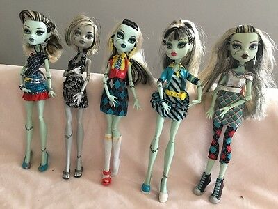Collection of Monster High  Frankie Stein Dolls