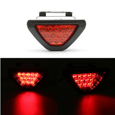 Fanale Faro Posteriore Moto Universale Luce Stop Targa 12 Led Fog Drl Flash Red
