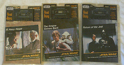 Star Wars set of 3 read along book and tape lot < Free Postage >