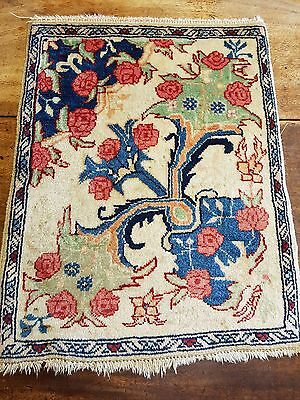 beautiful vintage Persian wool rug collectible floral
