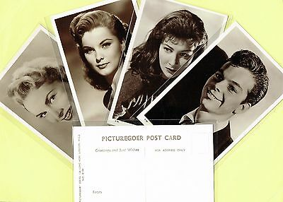 PICTUREGOER 'D' Series 1950s Film Star Postcards #500 to #602 (Cinema/Movie)