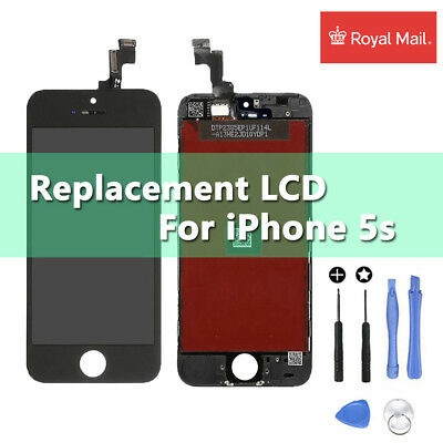 For iPhone 5s Black LCD Touch Screen Display Digitizer Assembly Replacement UK