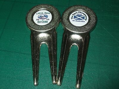 2 x Divot Repair Tools from 2010 OPEN St Andrews