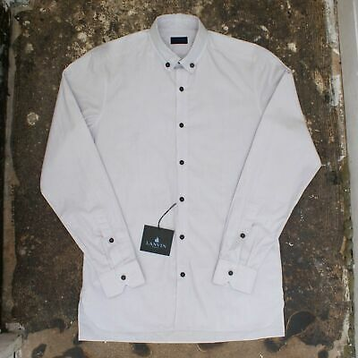 New Mens Lanvin Smart Black Shirt French Cuff /& Concealed Placket BNWT RRP £160