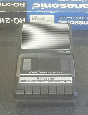 Panasonic Slimline Portable Cassette Recorder RQ-2102 excellent condition boxed