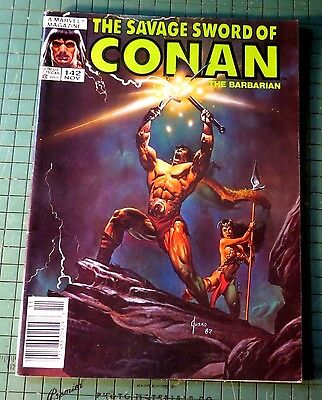 Savage Sword of Conan #142 Copper Age Mag Format Bin 1