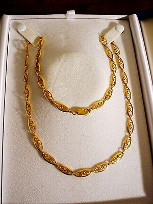 COLLIER, CHAINE OR 18 CARATS/750/1000 FILILIGRANE - 58 cm, 21 gr. EXCELLENT ETAT