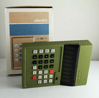 Vintage Bulgarian Nixie Elka 160 Electronic Calculator Military Green Working