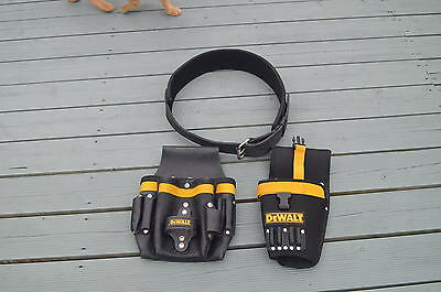 Dewalt Carpenters  Leather Tool Pouch  Belt