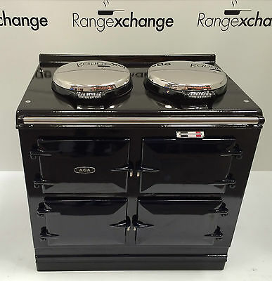 Reconditioned Aga Cooker 3 oven 13amp Electric with AIMS. Dark Blue