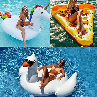 Hot Giant Inflatable Water Float Raft Swimming Pool Lounger Beach Fun Sports Toy
