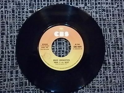 "Bruce Springsteen ""prove It All Night / Factory"" 7"" 45 Giri Made In Italy 1978"