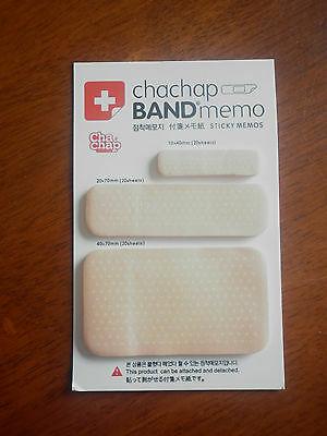 Novelty band aid post-it notes band aid memo pads 3 sizes 60 sheets total