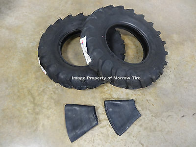 TWO New 7.60-15 American Farmer Traction I-3 Implement Tires & Tubes FA512