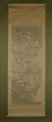 Hanging Scroll Chinese Landscape Painting Winter Antique Asian art China ink u43