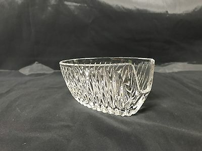 Vintage American Brilliant Period Glass Spoon Rest Oval Shaped Spoon Boat EUC