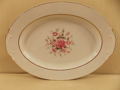 "Fine China of Japan ""Laura"" Oval Serving Platter 12"""