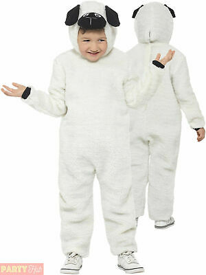 Kids Sheep Costume Lamb Nativity Fancy Dress Christmas All In One Boys Childs