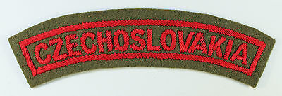 CZECHOSLOVAKIA WW2 Officer's Nationality Shoulder Title Badge