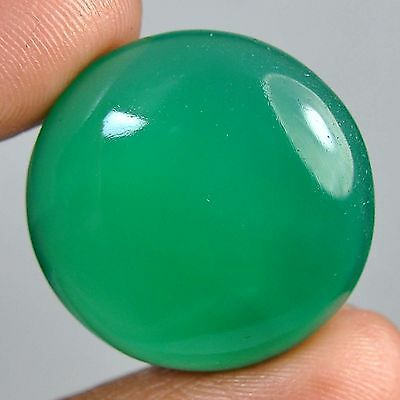 27.00 Cts Wholesale price natural green chalcedony round cabochon gems 6-y