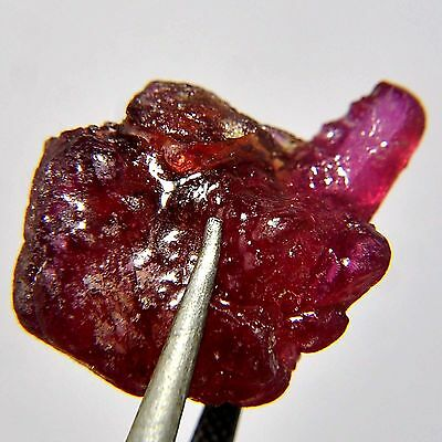 32.25 Cts Natural Rich Red Ruby Heating Rough or khad Specimen Madagascar