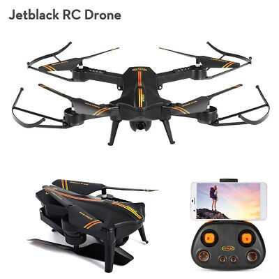 Jetblack Selfie Drone WIFI FPV Quadcopter Helicopter with Camera Remote Control