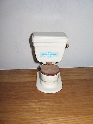 SYLVANIAN FAMILIES Vintage toilet with flushing sounds