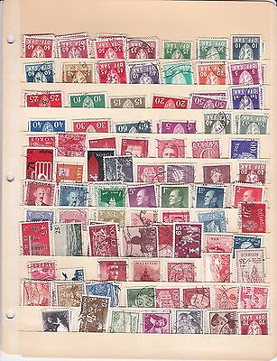 Norway used stamps ( lot 554 )