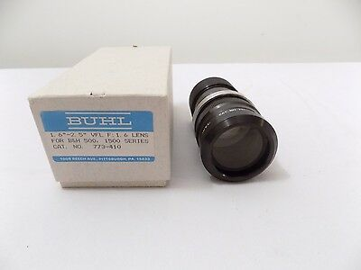 "BUHL Optical Projector Lens 1 6""-2.5"" VFL F: 1.6 LENS No. 773-410 For B&H 500"
