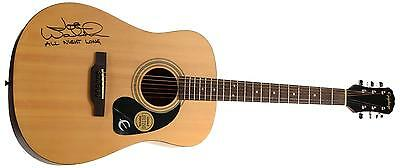 Joe Walsh Autographed Acustic Guitar The Eagles With All Night Long Item#7268786