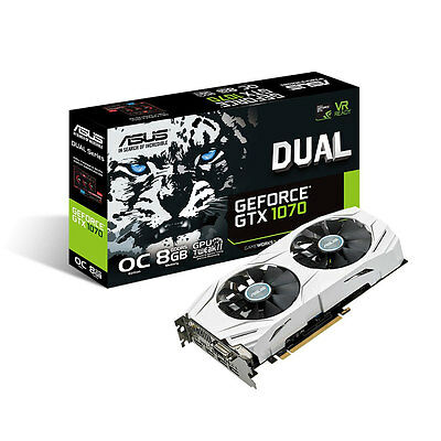 ASUS GeForce GTX 1070 DUAL OC 8GB GDDR5 Graphics Card DUAL-GTX1070-O8G