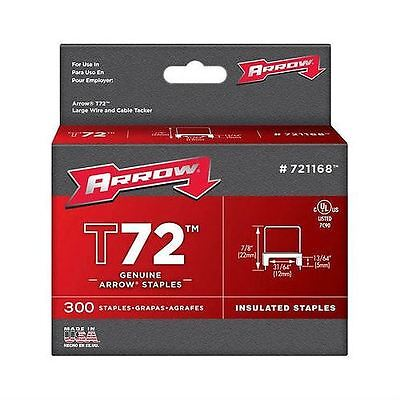 Arrow 721168 T72 5x12mm Insulated Staples (Box of 300)