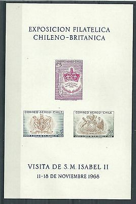 Chile 1968 Exhibition Sheet Mlh