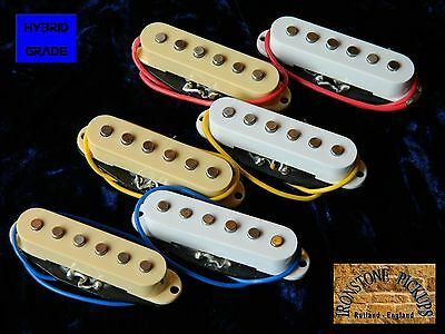 Hybrid Vintage Stratocaster Strat Electric Guitar Pickups Alnico V single coil.
