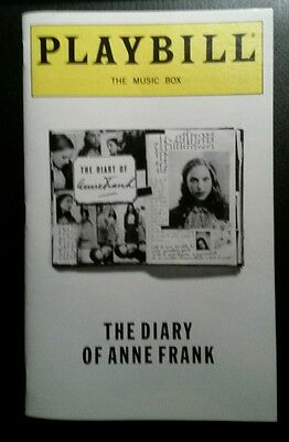 Broadway Playbill Diary of Anne Frank Natalie Portman debut and ticket stub