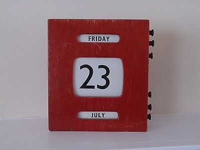 Antique Perpetual Wall Calendar