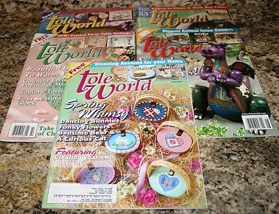 Lot of 5 Tole World Magazines 2003-2005