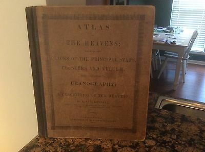 Atlas of The Heavens 1845 Star Atlas antique 172 years old!