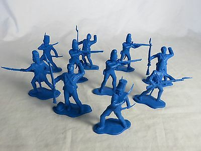 Reamsa 1/32nd Napoleonic Spanish Toy Soldier infantry 10 in 4 poses 54MM