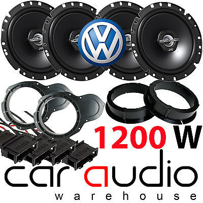 VW Vokswagen Passat B6 JVC 1200 Watts Front & Rear Door Car Speakers Upgrade Kit