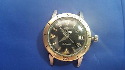 Vintage Zodiac Sea Wolf Automatic 17 jewels Men's Watch for parts