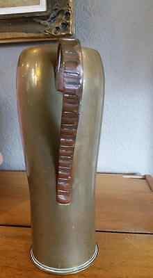 Bullet Shell World War 1 French Vase With handle Trench Art