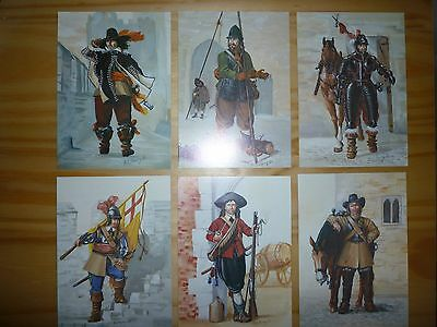 Set Of Six New English Civil War modern postcards by Wargames Foundry