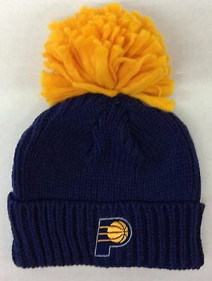 more photos ec946 2443a NBA Indiana Pacers Adidas Cuffed Pom Winter Knit Hat Cap Beanie Style   KU74W NEW