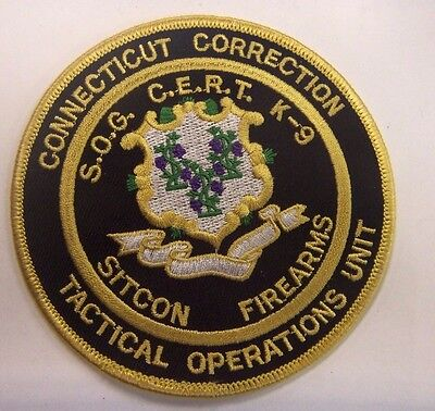 Connecticut Department Of Correction Tactical Operations Unit Patch