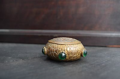Antique arts and crafts pill box