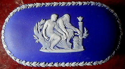 Wedgwood Only Cobalt Blue Jasper Dip Small Box In Perfect Condition