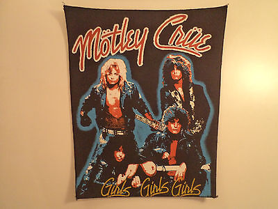 Vintage MOTLEY CRUE  80s Unused BACK PATCH  heavy metal guns n roses lp t shirt
